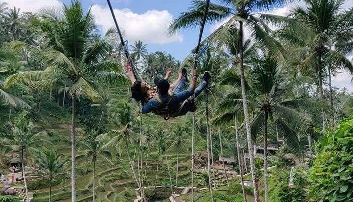 enjoyed the swinging in bali