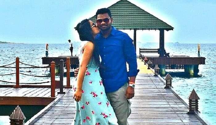 had romantic time in Maldives