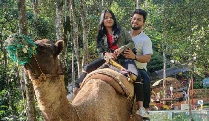 taking camel ride