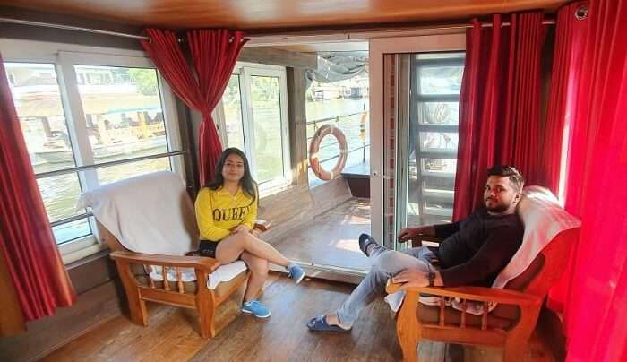 romantic staying in a houseboat