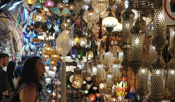 at the very famous grand bazar of turkey