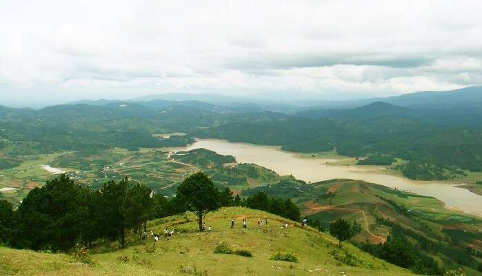 highest mountains in Dalat