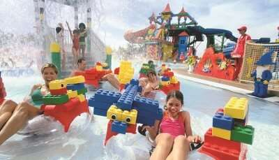 Legoland Water Park Build-A-Raft River_family cover