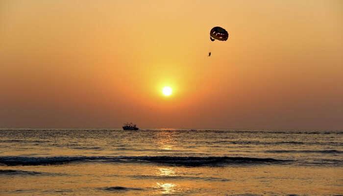 Parasailing At Mandarem Beach In Goa