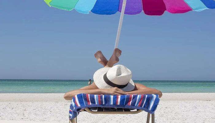 Sunbathing At Androth Island
