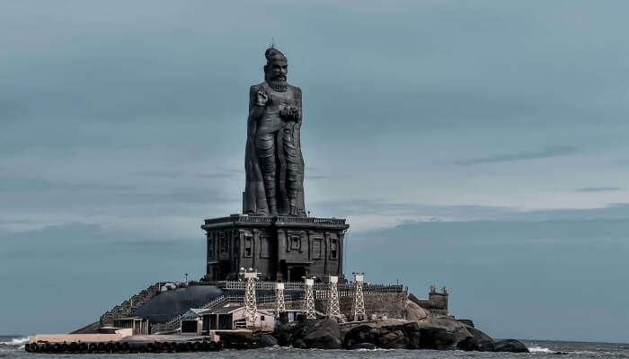 statue above the sea