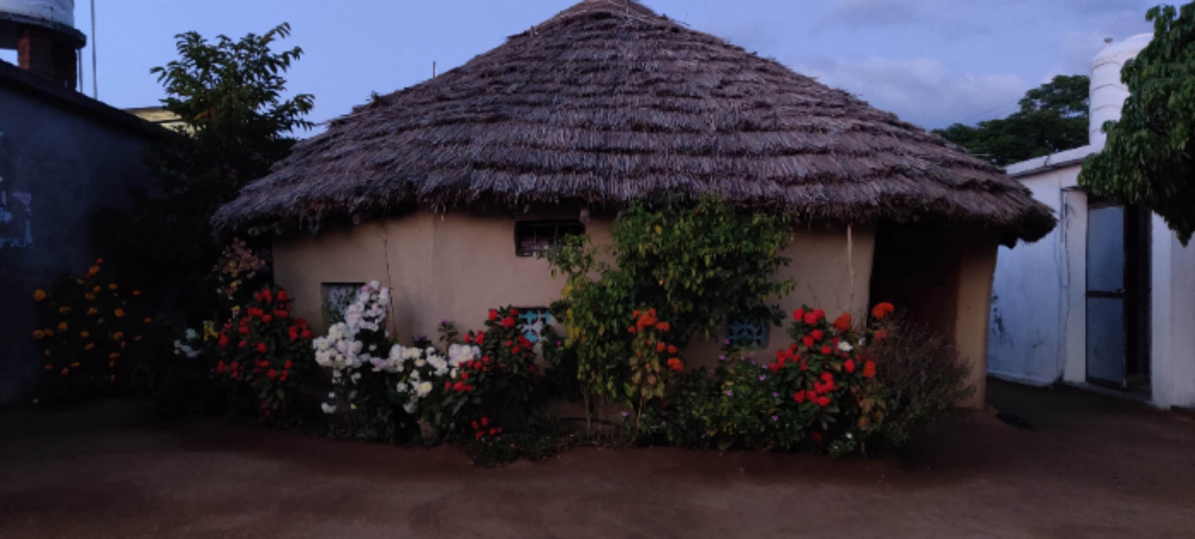A Decorated Village Hut