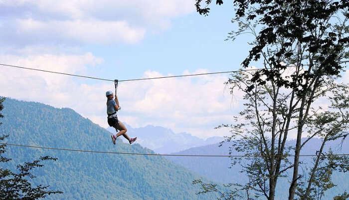 Enjoying Ziplining in Phuket