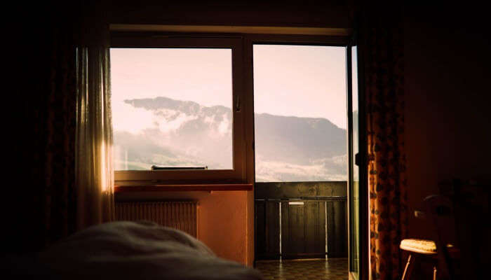 mountain view from window