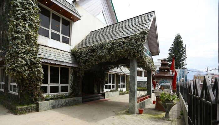 entrance of a resort