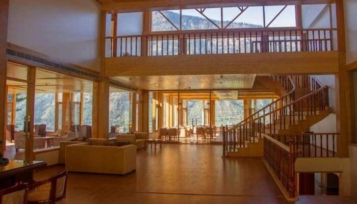 resort with wooden interiors