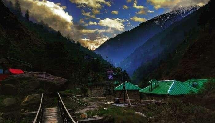 mountain range and resort