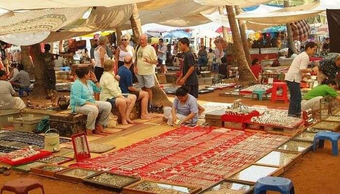 Anjuna Flea Market Shopping In Goa