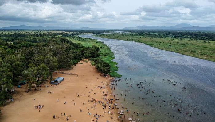 river side beach