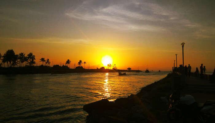 Beautiful Evening on beach