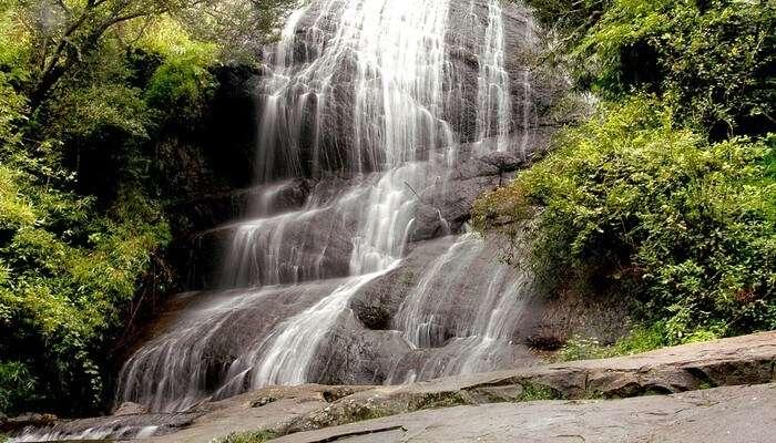 Crystal clear waterfall