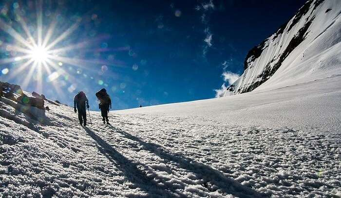 on way to mountaineering
