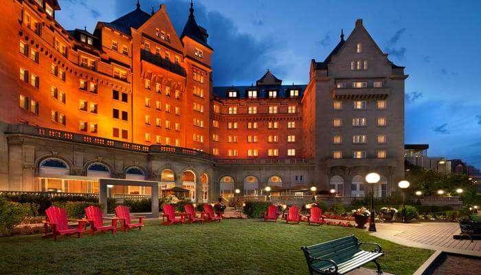 Fairmont Hotel Macdonald view