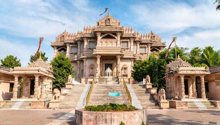 View of gandinagar temple