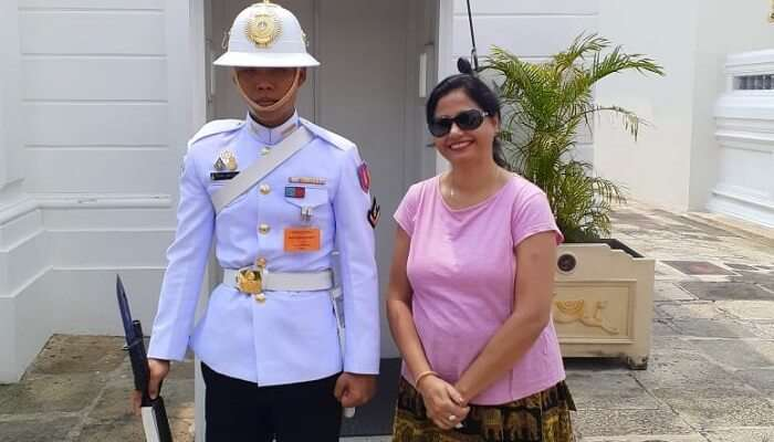 a click with civilians of Thailand