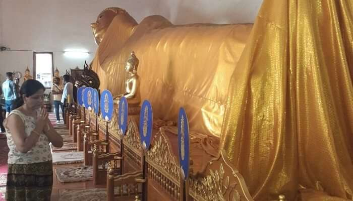 a golden idol of Buddha