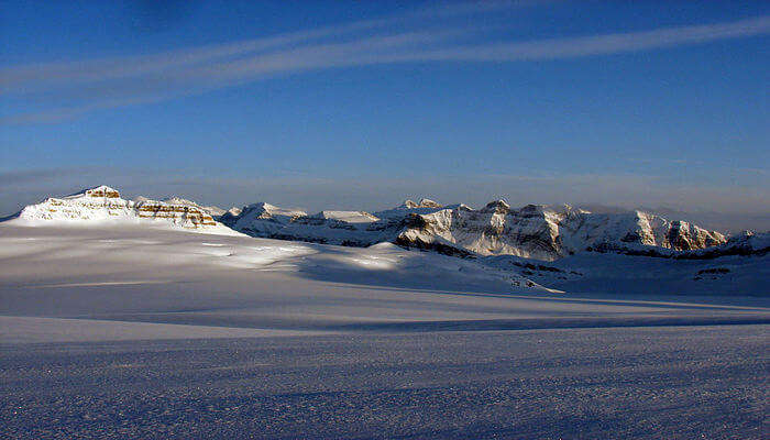 Icefield Parkway And Columbia Icefield