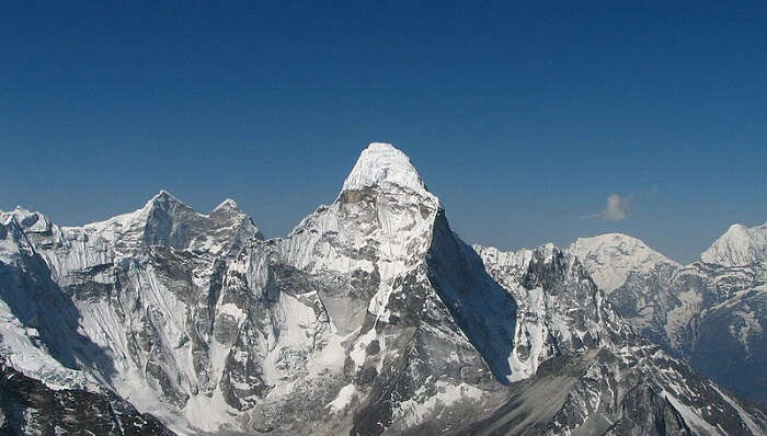 get a view of the mountain peak