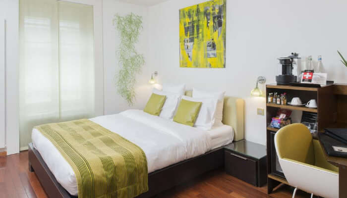Pure White Hostel room