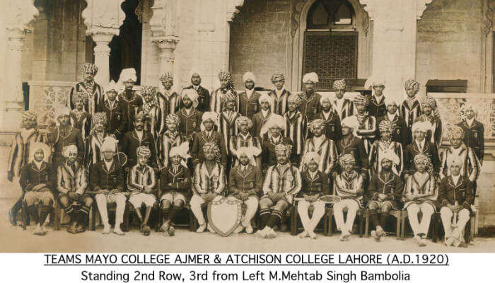 An old photo of Mayo College Museum, Rajasthan