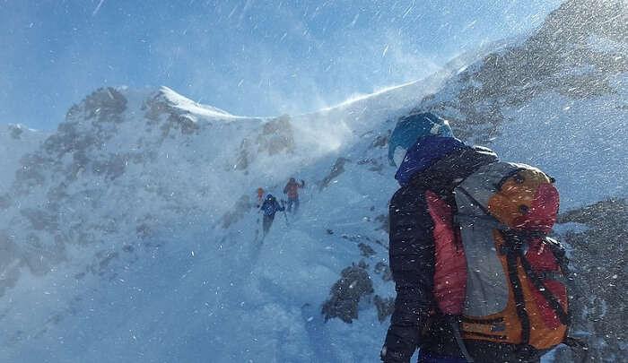 stunning view of the himalayan peak