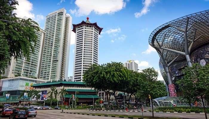 Singapore's commercial district