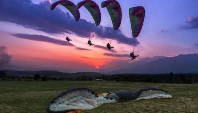 View of Paragliding In Kerala