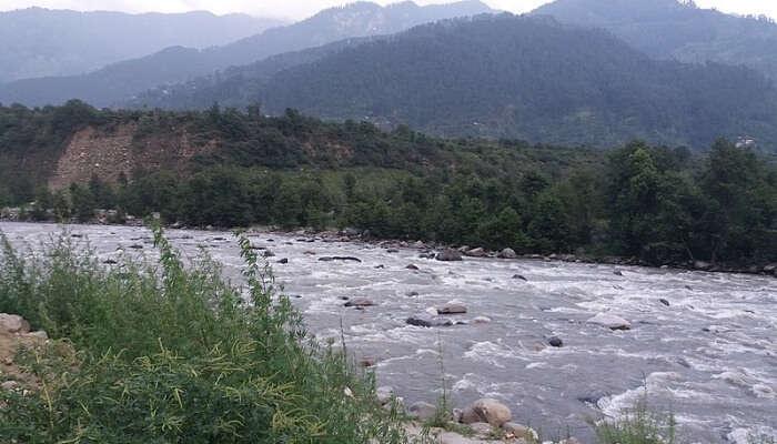 Rafting at riverside, Kullu