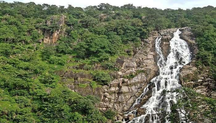 modest waterfall