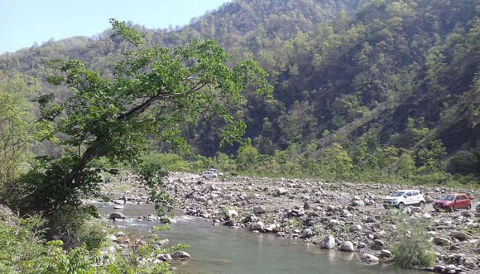 A river valley