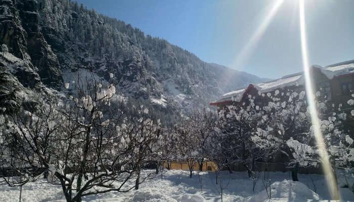 Snowfall in Solan