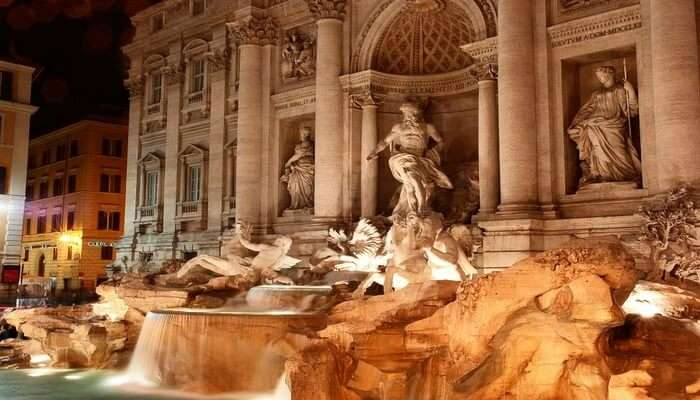 Toss A Good Luck Coin At Trevi Fountain