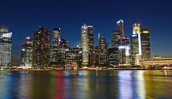 skyline buildings of Singapore