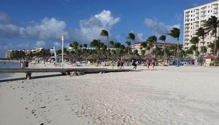 white beach view