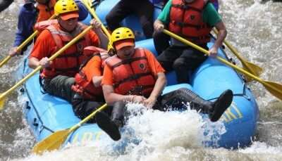 Enjoying River Rafting