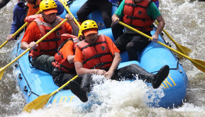 Enjoying River Rafting