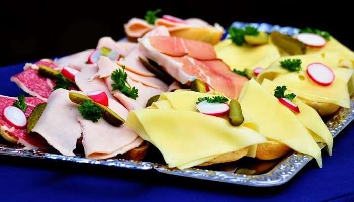 Belegte Brote austrian food