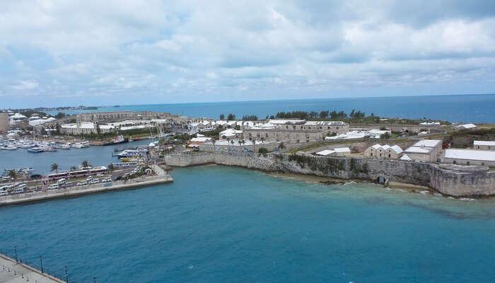 view of the bermuda island