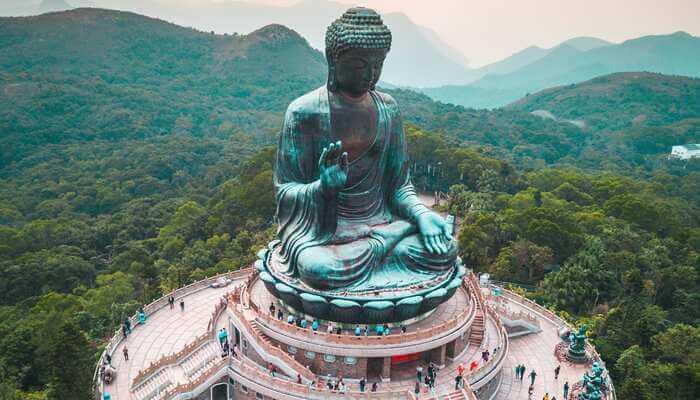 Lord Budha statue in Hong Kong