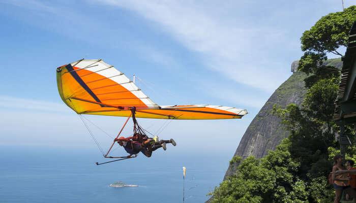Adventurous Hang gliding in Brazil