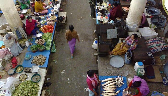 Ema Keithel Market in Manipur