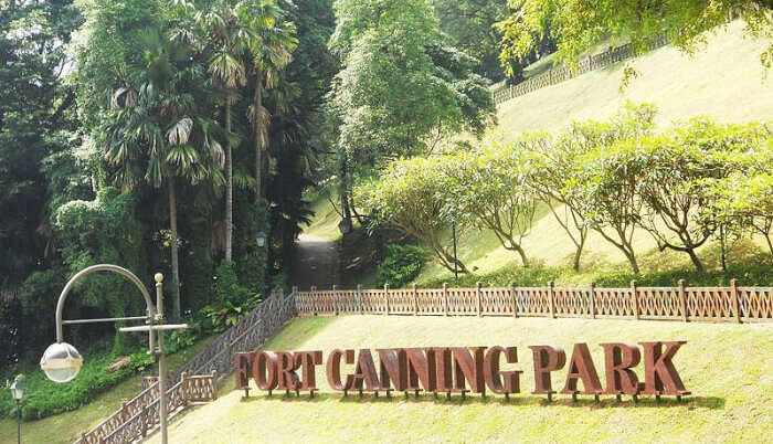 Fort Canning Hill in Singapore