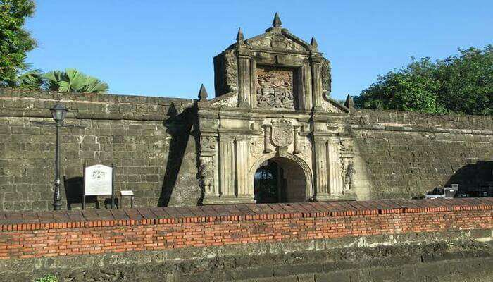 a fortress in manila