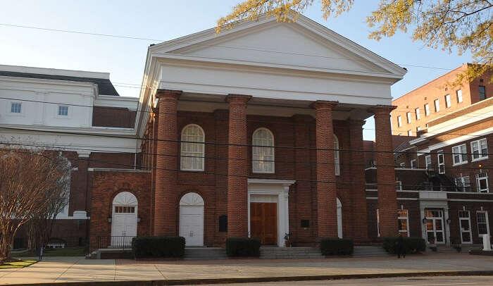 a beautiful building of church