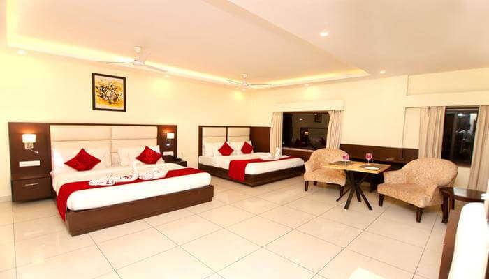 spacious room in the hotel